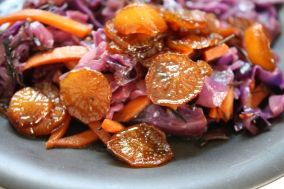 Red Cabbage and Arame