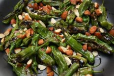 Hot Blistered Shisito Peppers